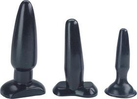 Sexy Sweet Butt Plugs, set of 3, black