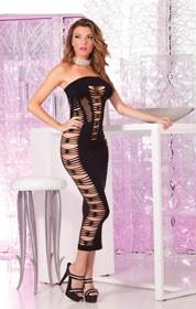 Big Spender seamless long dress: Black