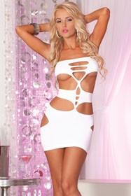 Nocturnal seamless mini dress White