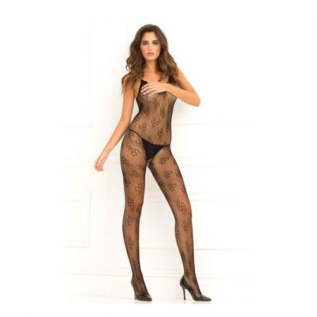 Floral Lace Bodystocking O/S