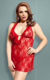 Carmen {} red XXL - Chemise with G-string